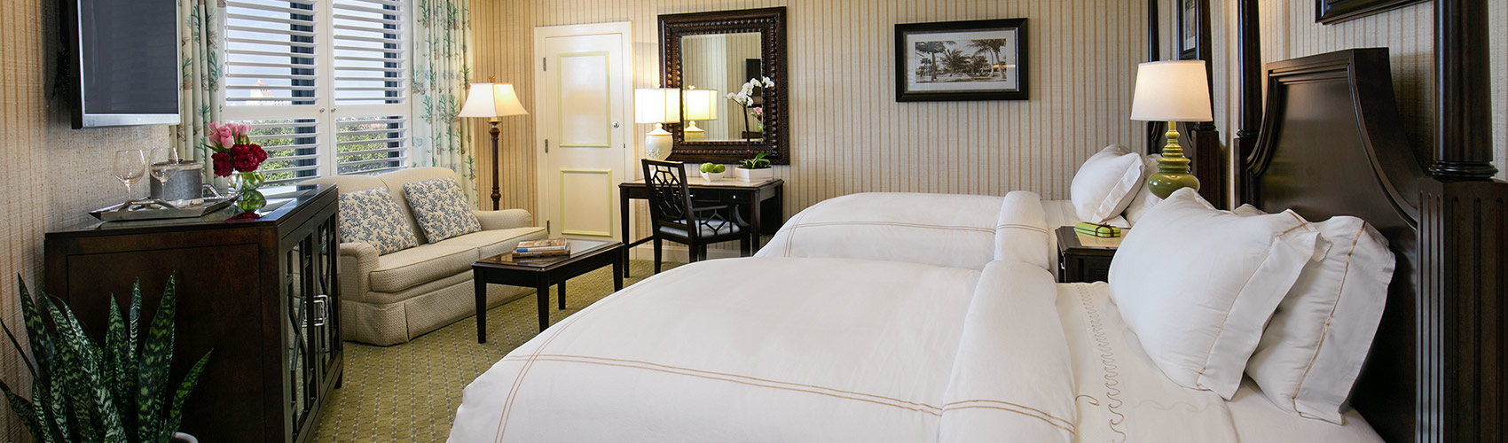 Two Premium guest room beds