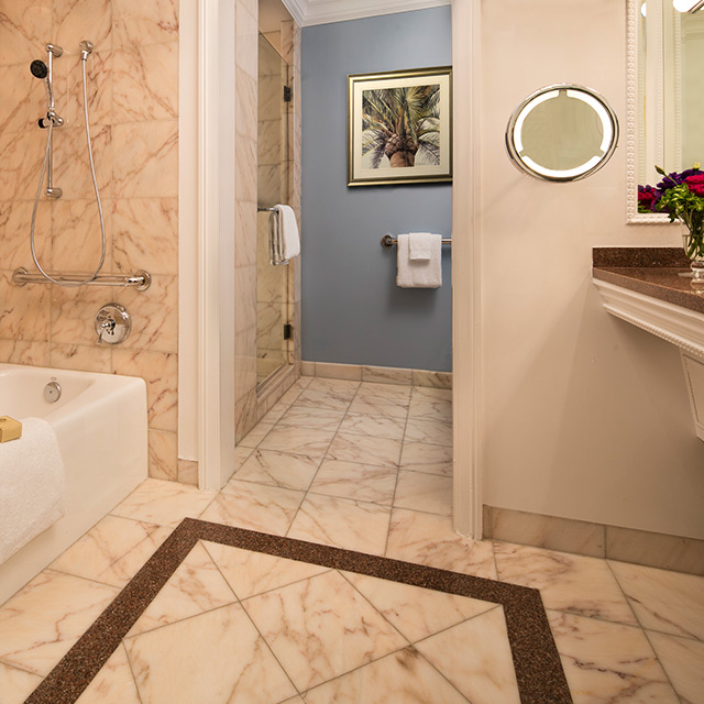 Accessible Oceanfront Guest Room bathroom