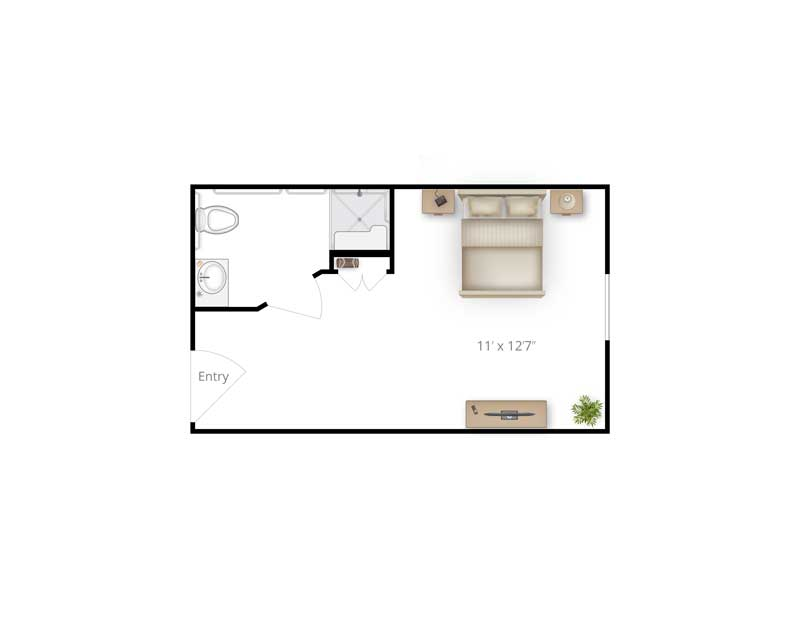 Memory Care 2d floor plan