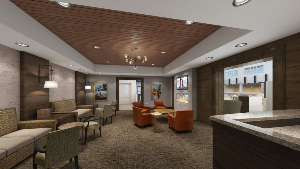 another view of the community center lounge area