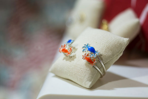 crab bracelent at community center gift shop