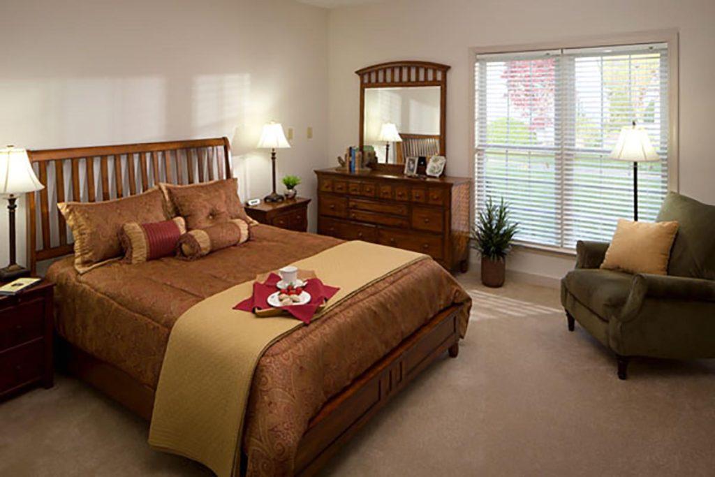 Senior apartment master bedroom