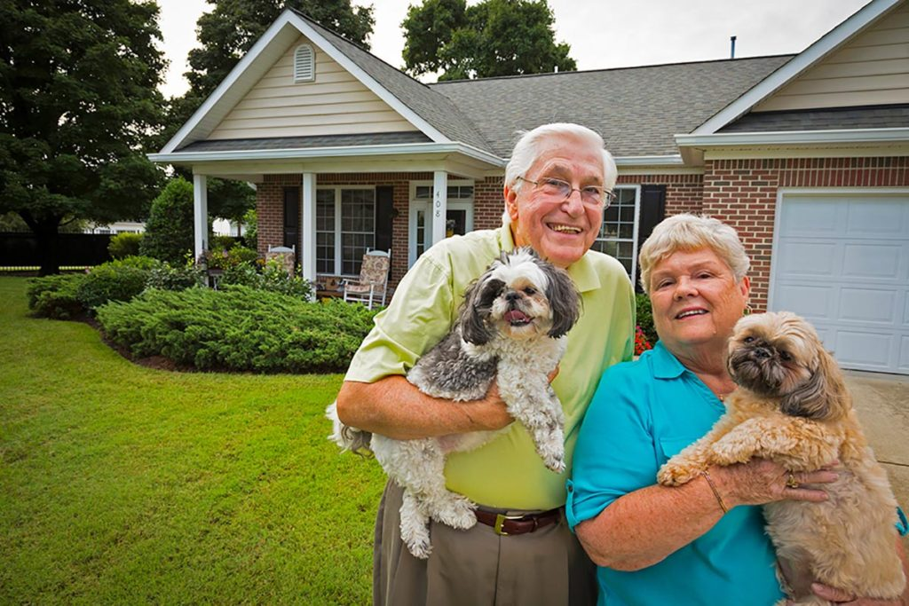 Senior Residents and their adorable dogs at The Chesapeake