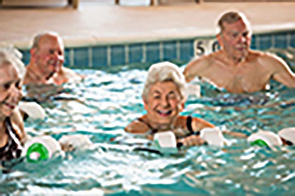 water aerobics in the swimming pool 2