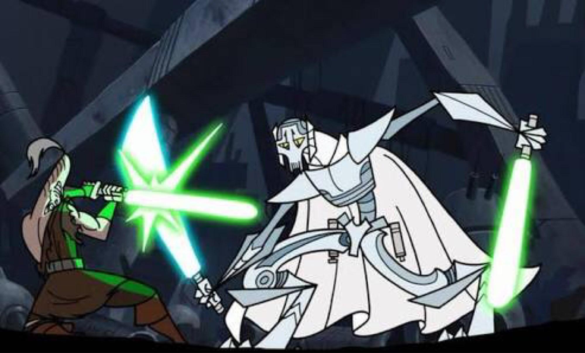 General Grievous battles Ki-Adi Mundi on Hypori.