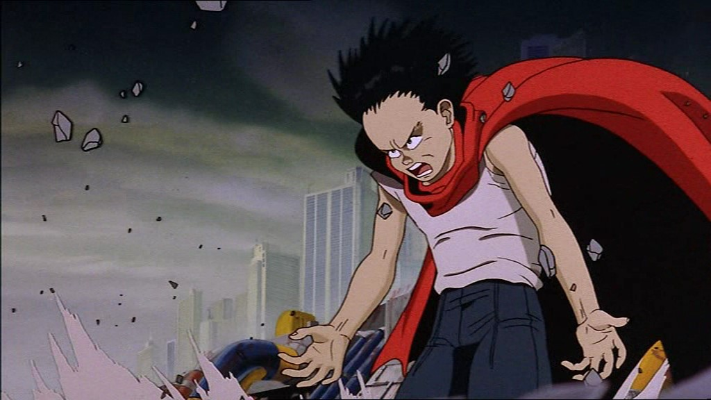 Tetsuo raises the ground with his telekinetic abilities in Akira.