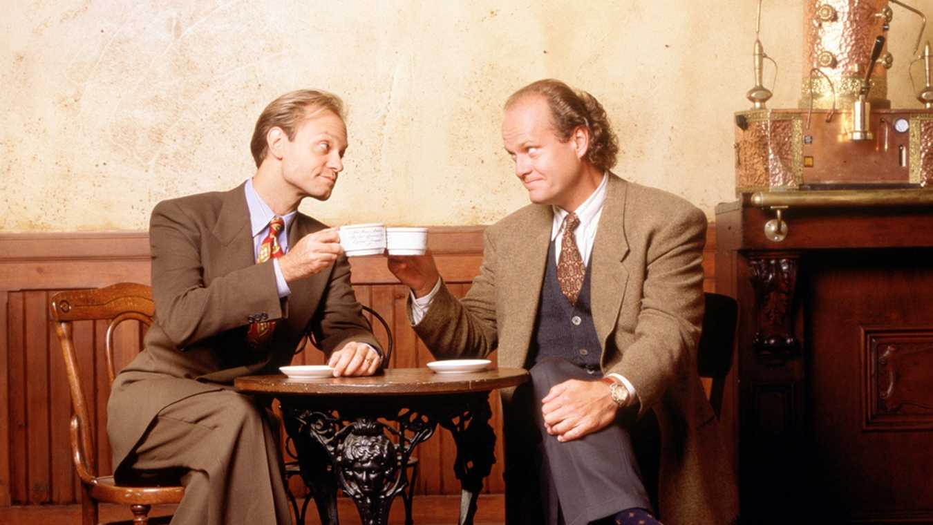 Frasier makes a good morning coffee recipe (David Hyde Pierce and Kelsey Grammer)