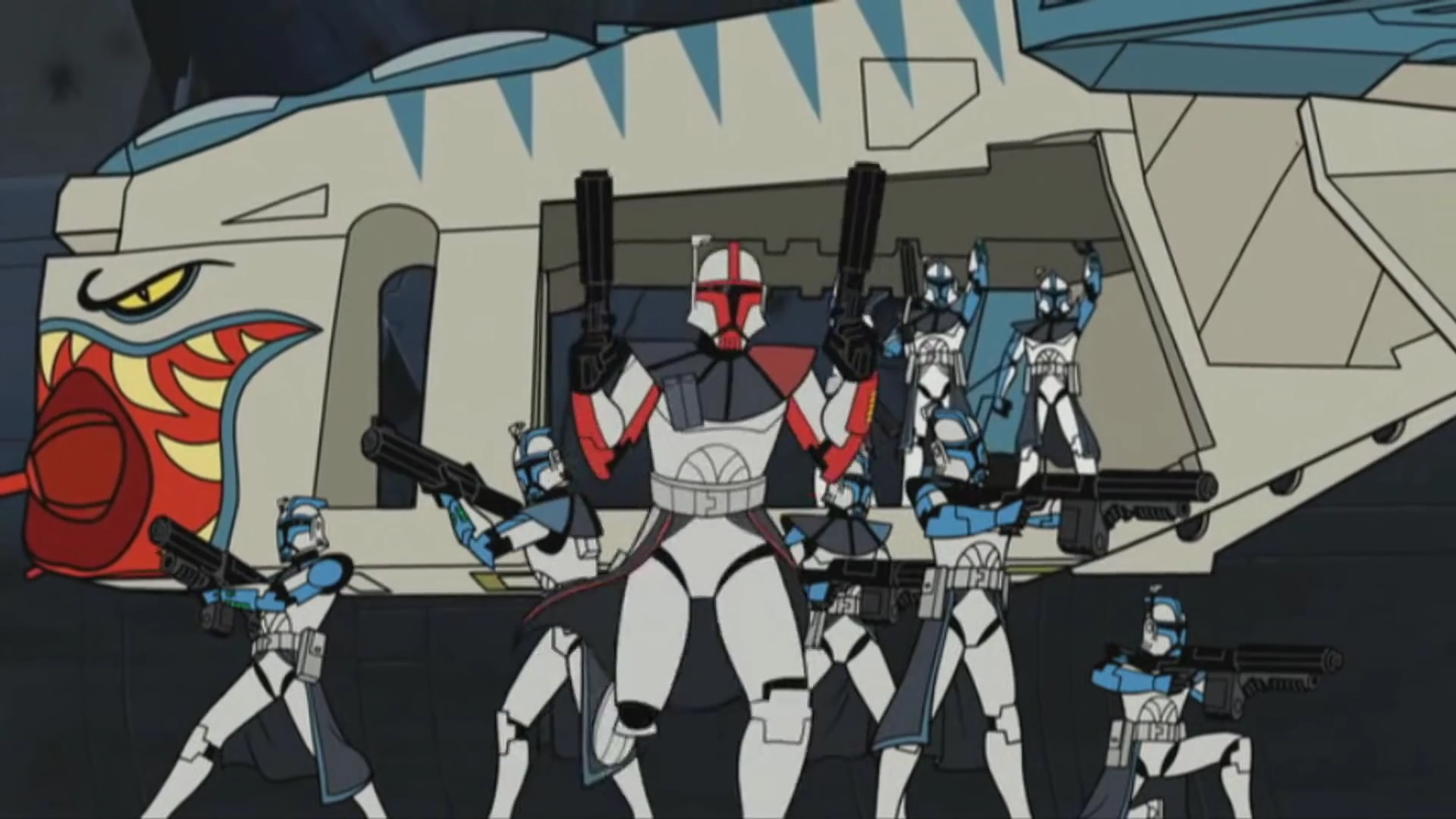 The ARC troopers band together to inavde Muunilinst during the clone wars.
