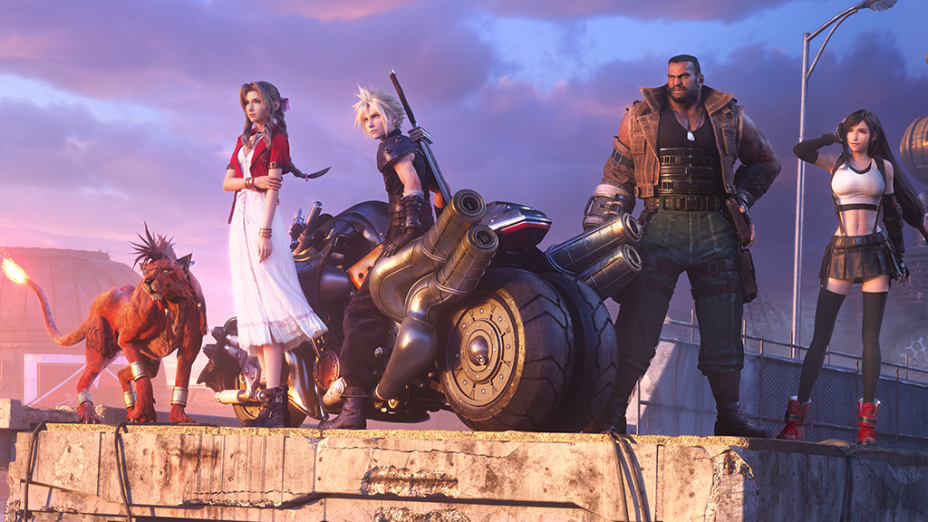 Poster of Final Fantasy 7 Featuring all the main characters.