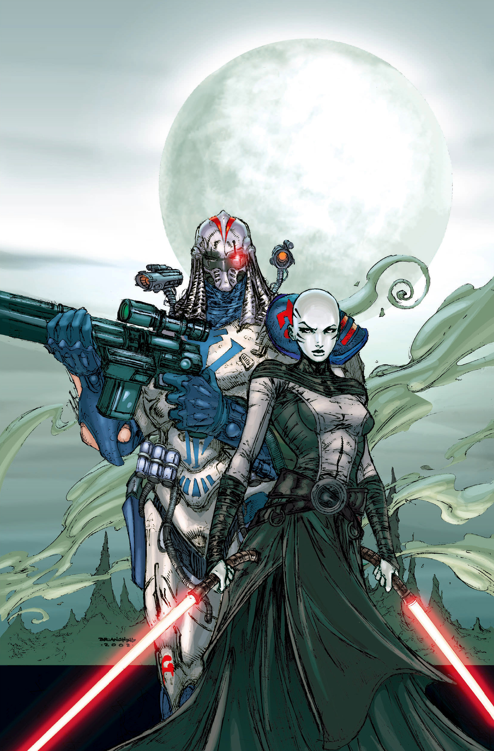 The first appearance of Durge and Asajj Ventress during the clone wars.
