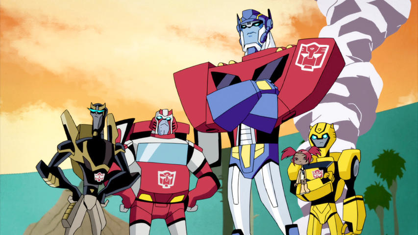 Main Autobots from Transformers Animated.