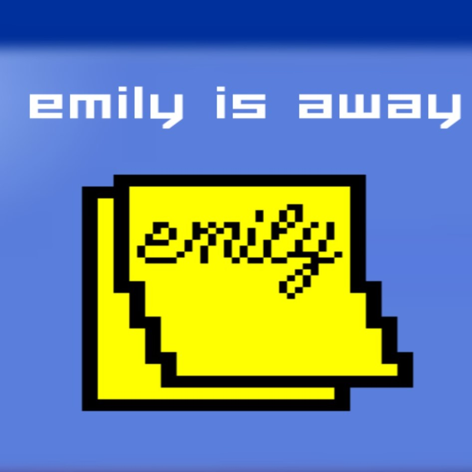 "logo, pixilated sticky note with ""emily"", 5/10 free steam games"