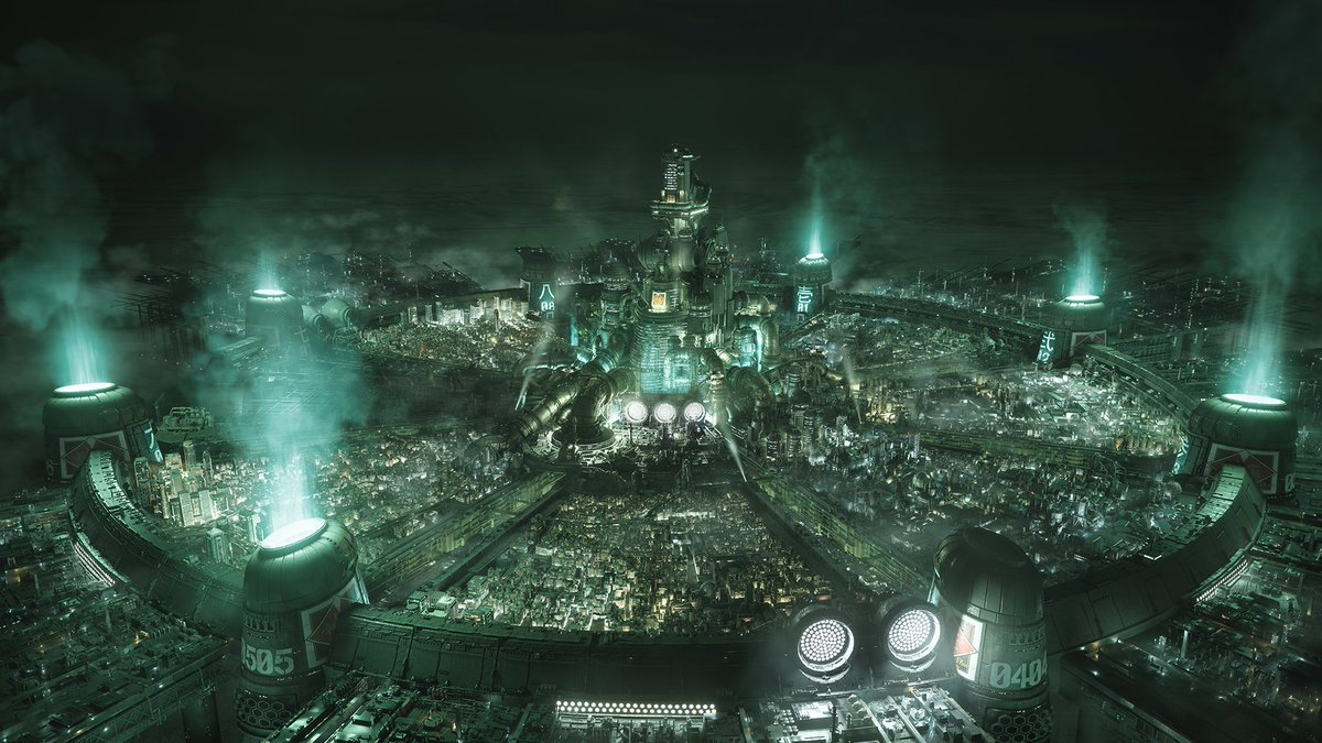 The main city of Midgar that most Final Fantasy 7 fans are familiar with, but with modern graphics