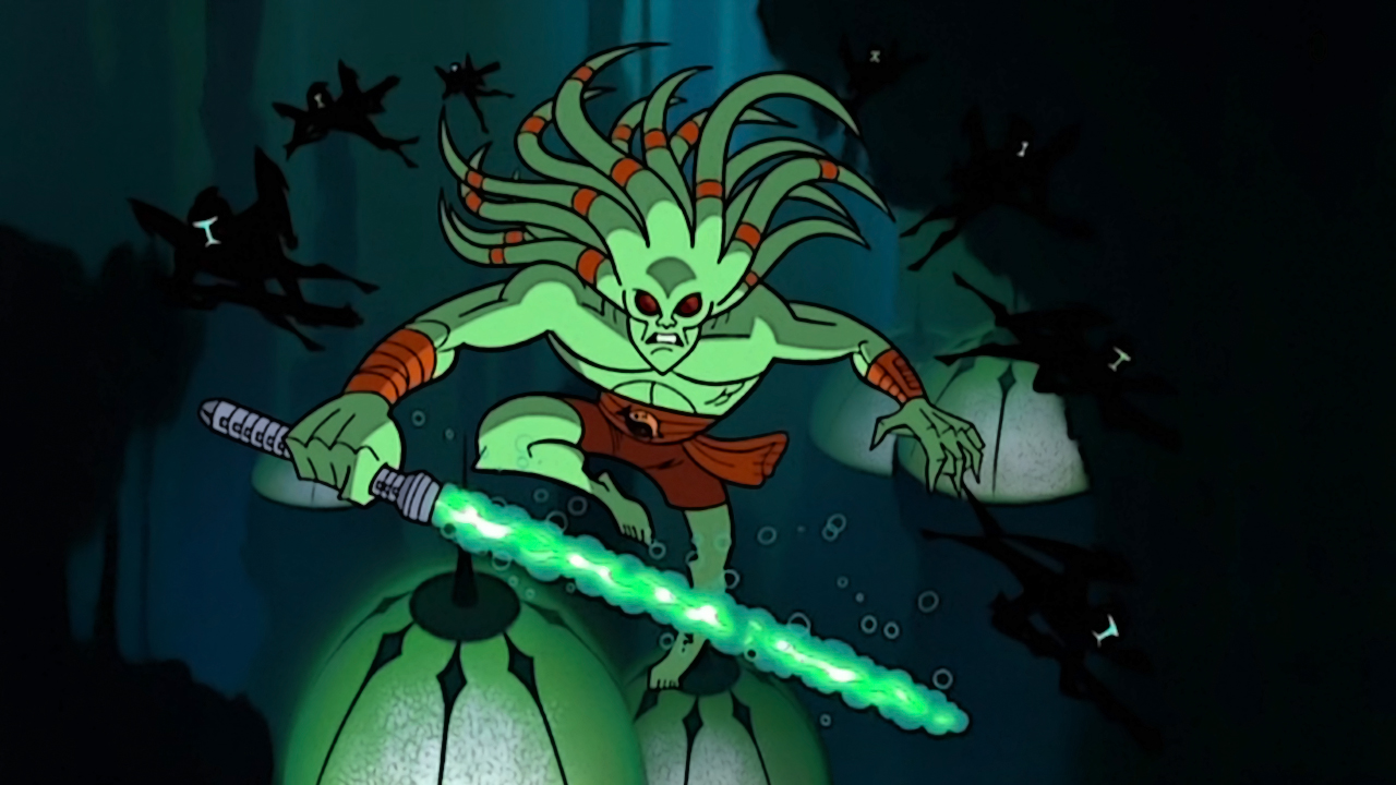The Clone Wars microseries established that Jedi could fight underwater as well.