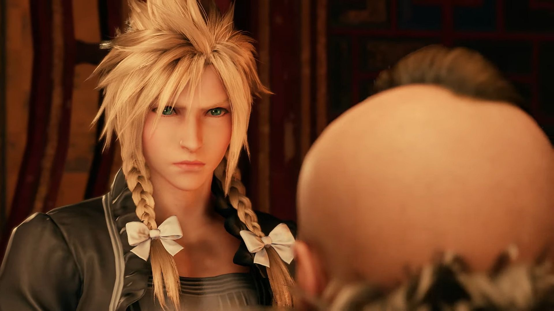 The beautiful Cloud Strife cross dressing during the Don mission