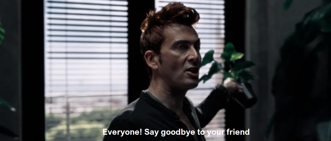 Crowley from Good Omens keeps house plants for fresh air.