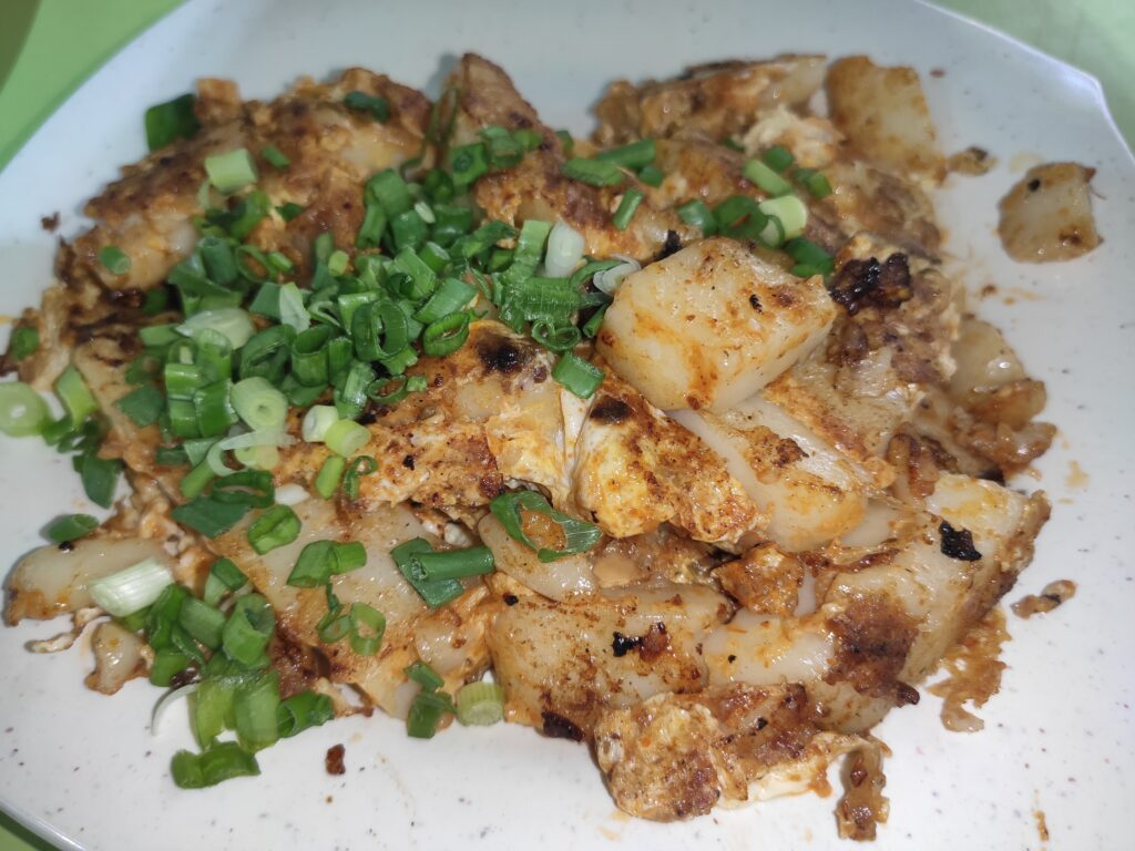 Heng Heng Cooked Food: Fried Carrot Cake (White)