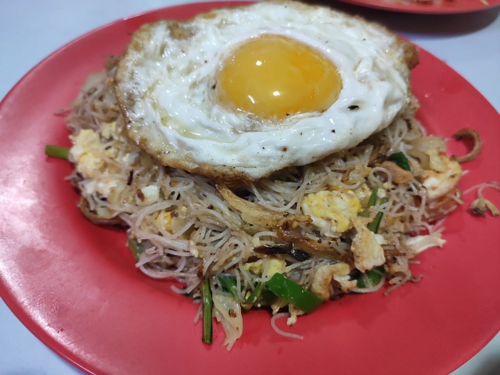 N.M. Abdul Rahim: Mee Hoon Goreng with egg