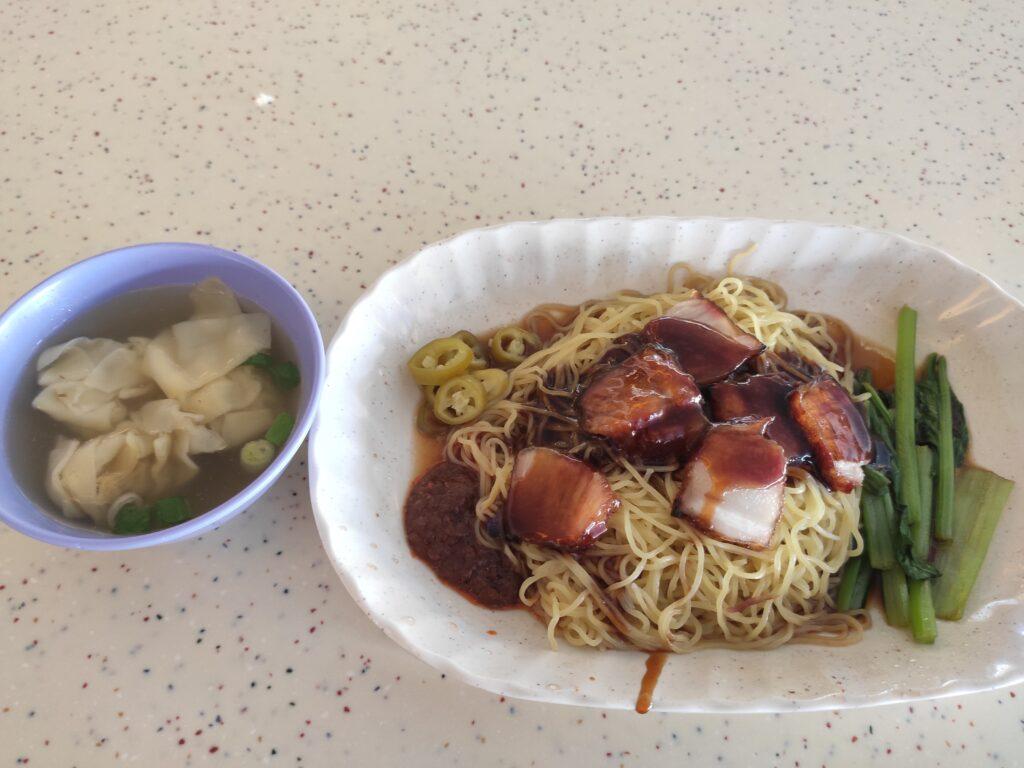 Tiong Bahru Lee Hong Kee Cantonese Roasted: Char Siew Wanton Noodles