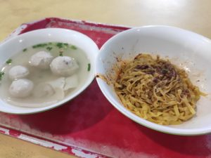 ABC Hawker Ah Hua Fish Ball Noodle: Mee Pok with Soup