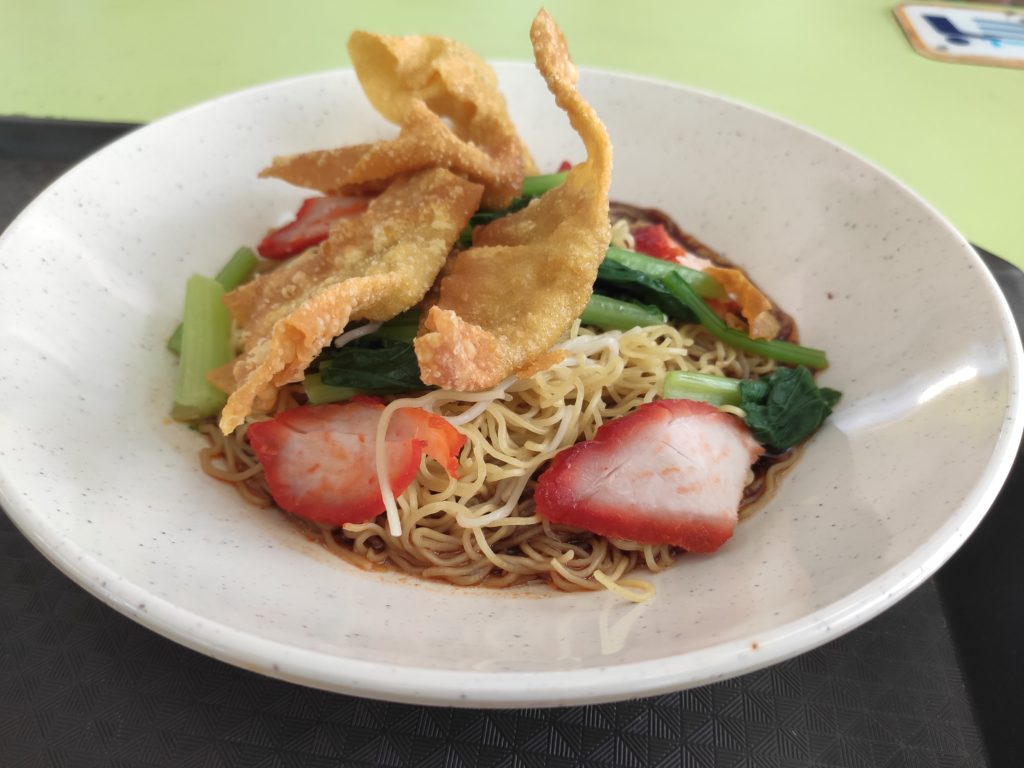 Boon Kee Wanton Noodle: Char Siew Noodles with Fried Wanton