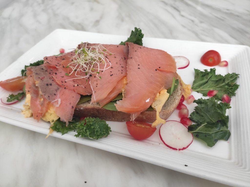 Botany: Smoked Salmon with Scrambled Eggs on Sourdough Toast