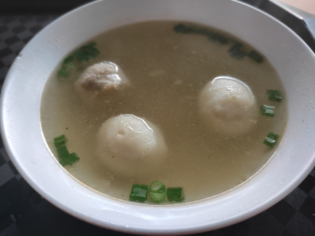 Bukit Merah View Fishball Minced Meat Noodle: Fishball and Meatball Soup