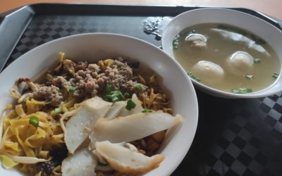 Bukit Merah View Fishball Minced Meat Noodle: Mee Pok with Fishball Soup