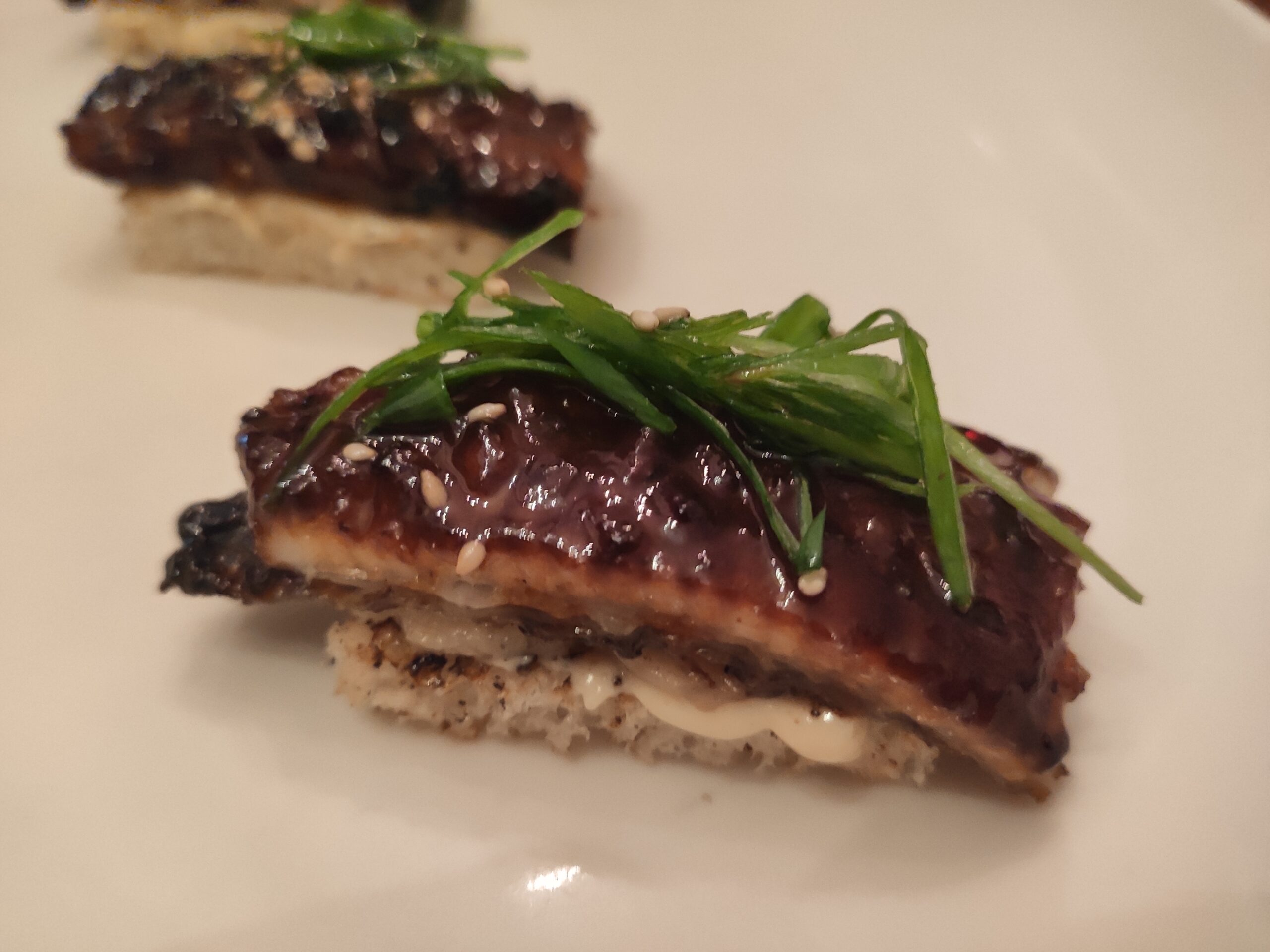 Burnt Ends: Eel with Bone Marrow