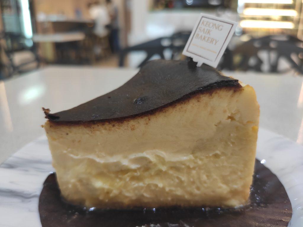 Durian Lab Cafe: Mao Shan Wang Burnt Cheesecake