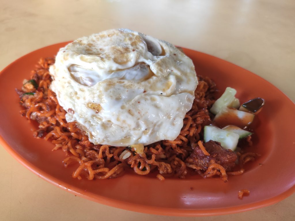 Fahzilaah Halal Food: Mee Goreng with Fried Egg