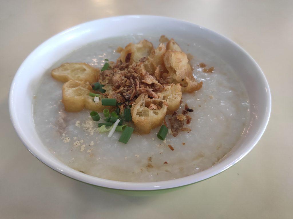 Guang Dong Porridge: Sliced Pork and Pork Ball Porridge