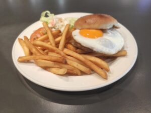 Han's: Chicken Superburger with Egg
