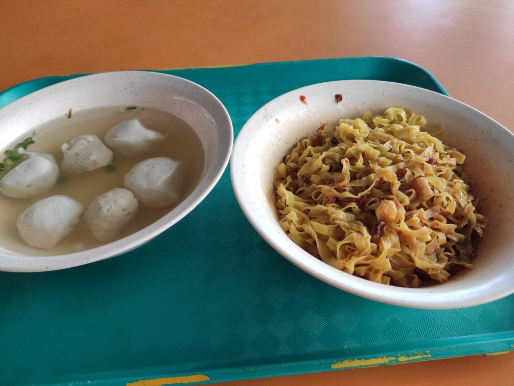 Hong Xing Handmade Fishball & Meatball Noodle: Mee Pok with Fishballs & Meatballs