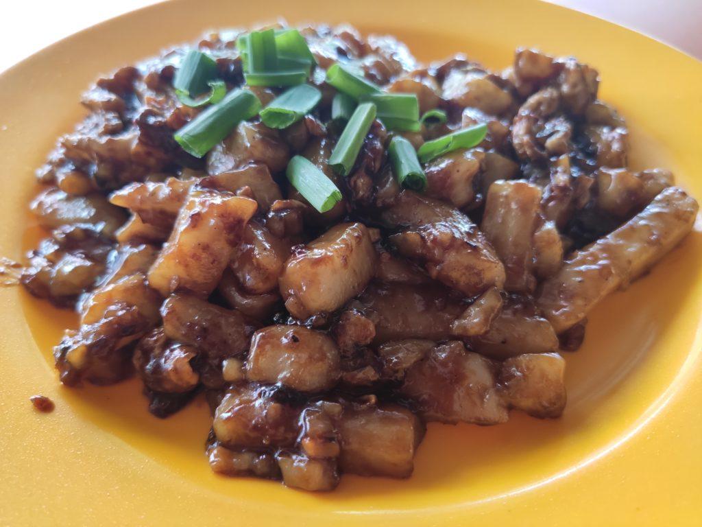Lai Heng Fried Hokkien Prawn Mee Fried Oyster: Fried Carrot Cake Black