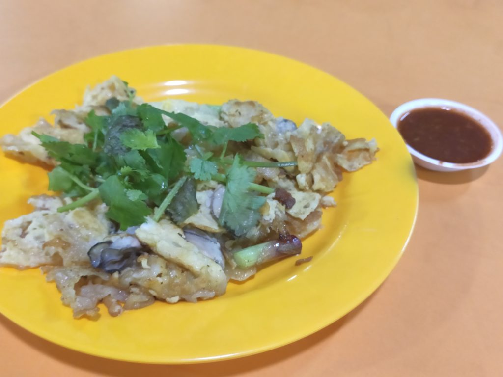 Lai Heng Fried Hokkien Prawn Mee Fried Oyster: Fried Oyster Omelette with Chilli