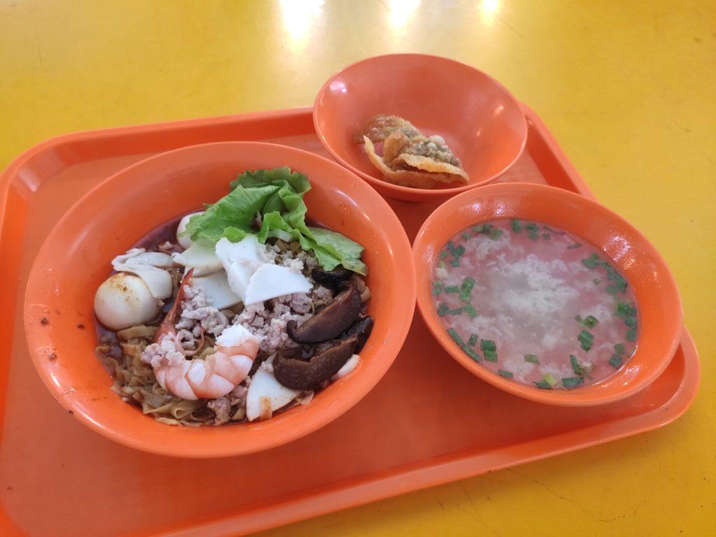 Lao Cai Shi Minced Meat Noodles: Mee Pok, Fried Wanton, Soup