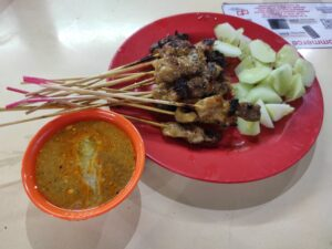 Leng Kee Satay Fried Oyster: Assorted Satay with Sauce
