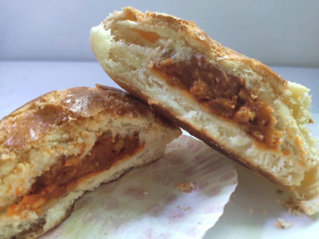Leung Sang Hong Kong Pastries: Po Lo Bao Curry Chicken Filling