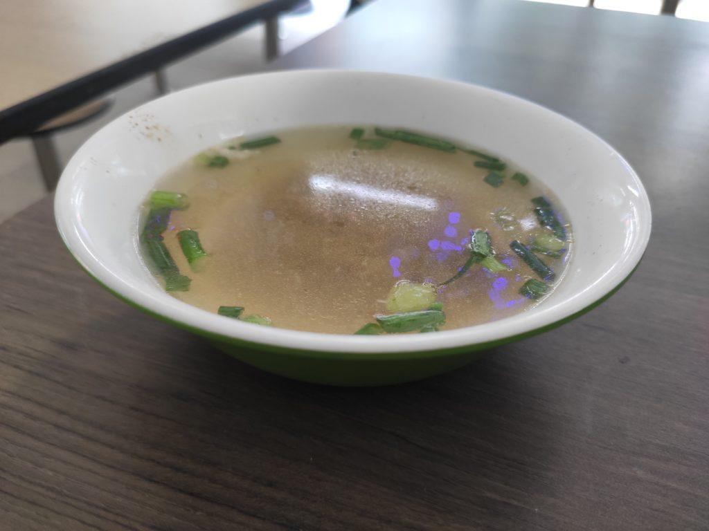 Liang Seng Mushroom Minced Meat Noodle: Soup