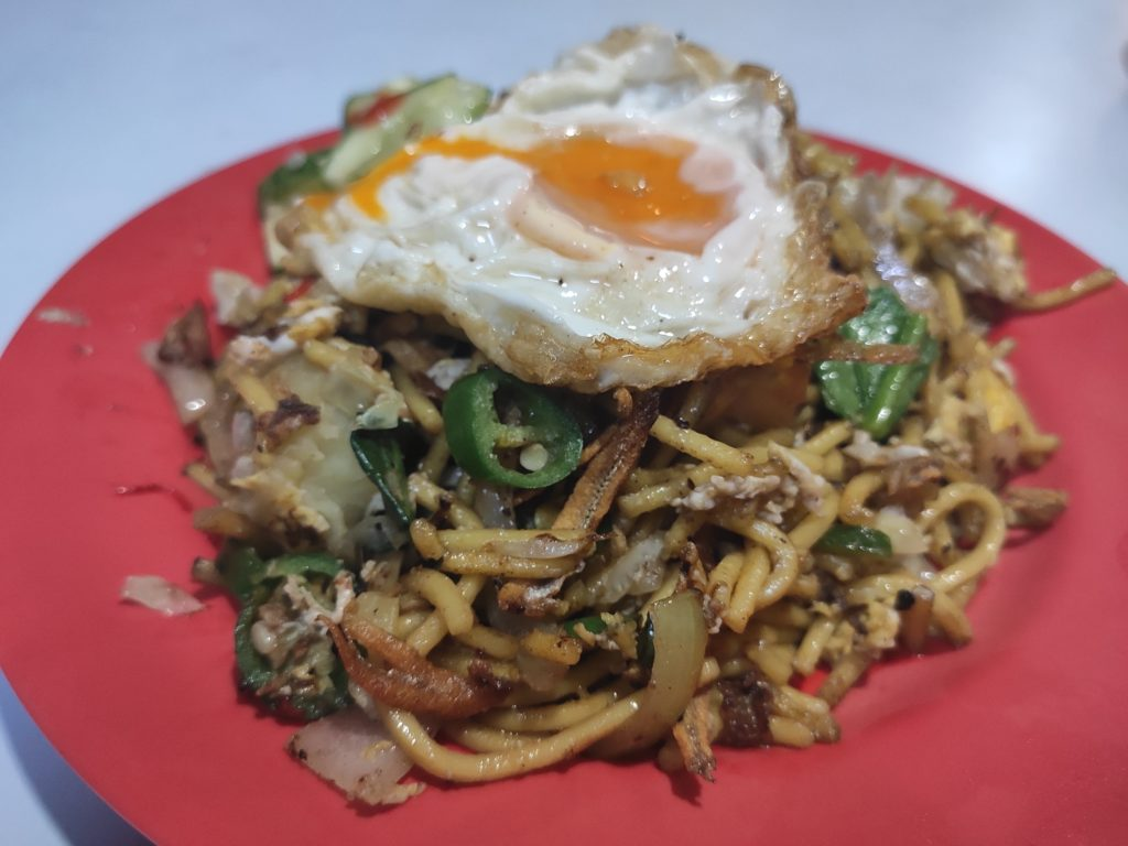 N.M. Abdul Rahim: Mee Goreng Ikan Bilis with Fried Egg