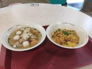 Ringo Handmade Fishball Noodle: Mee Pok with Soup