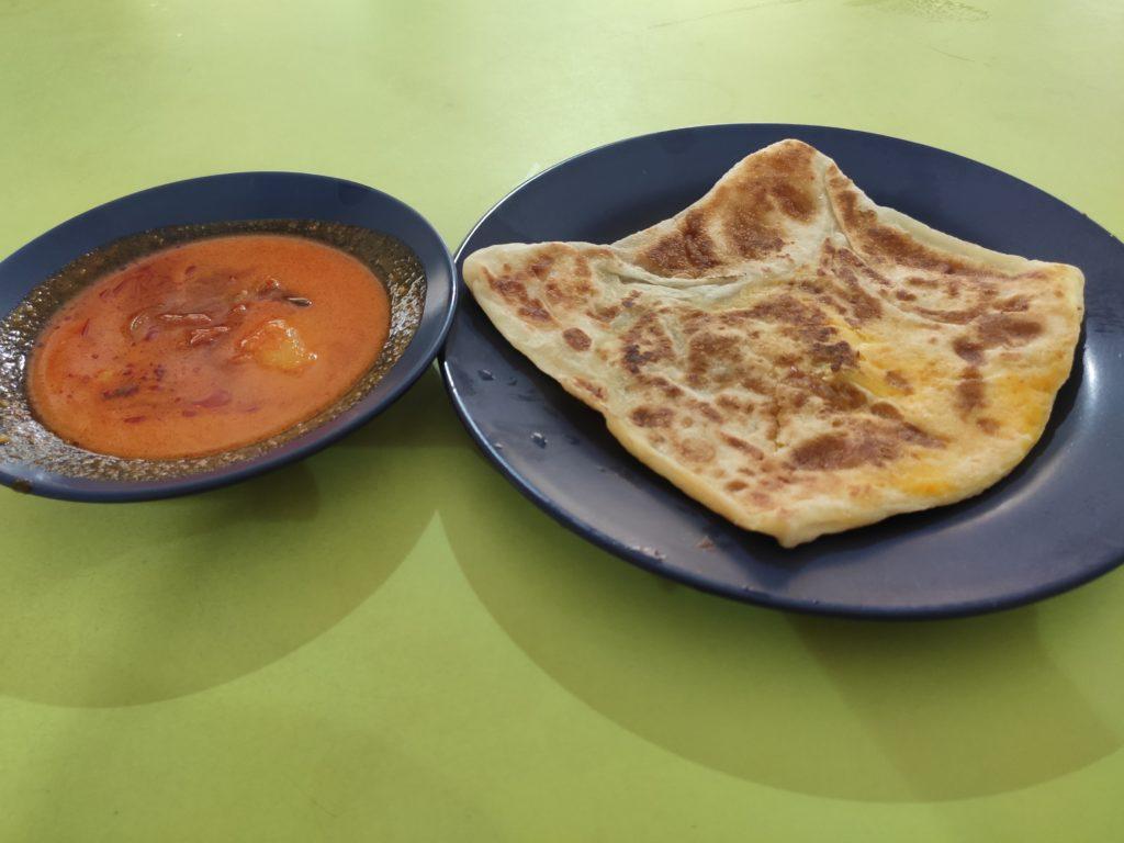 Shafima Family Food: Roti Prata Egg with Mutton Curry