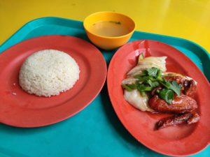 Shen Ji Ji Fan Chicken Rice: Hainanese Chicken & Roast Chicken, Rice, Soup
