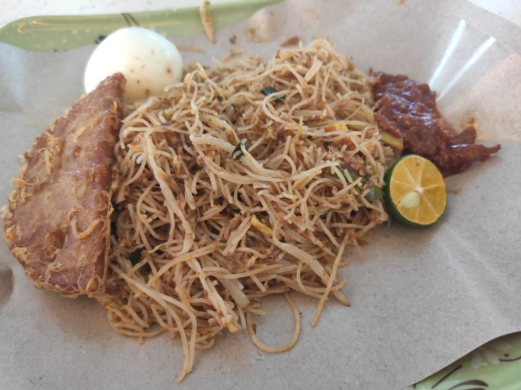 Super Shiok Nasi Lemak: Dry Mee Siam with Egg & Luncheon Meat