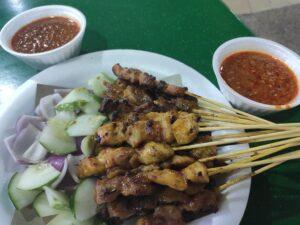 Swee Huat BBQ Seafood Satay: Assorted Satay with Sauce