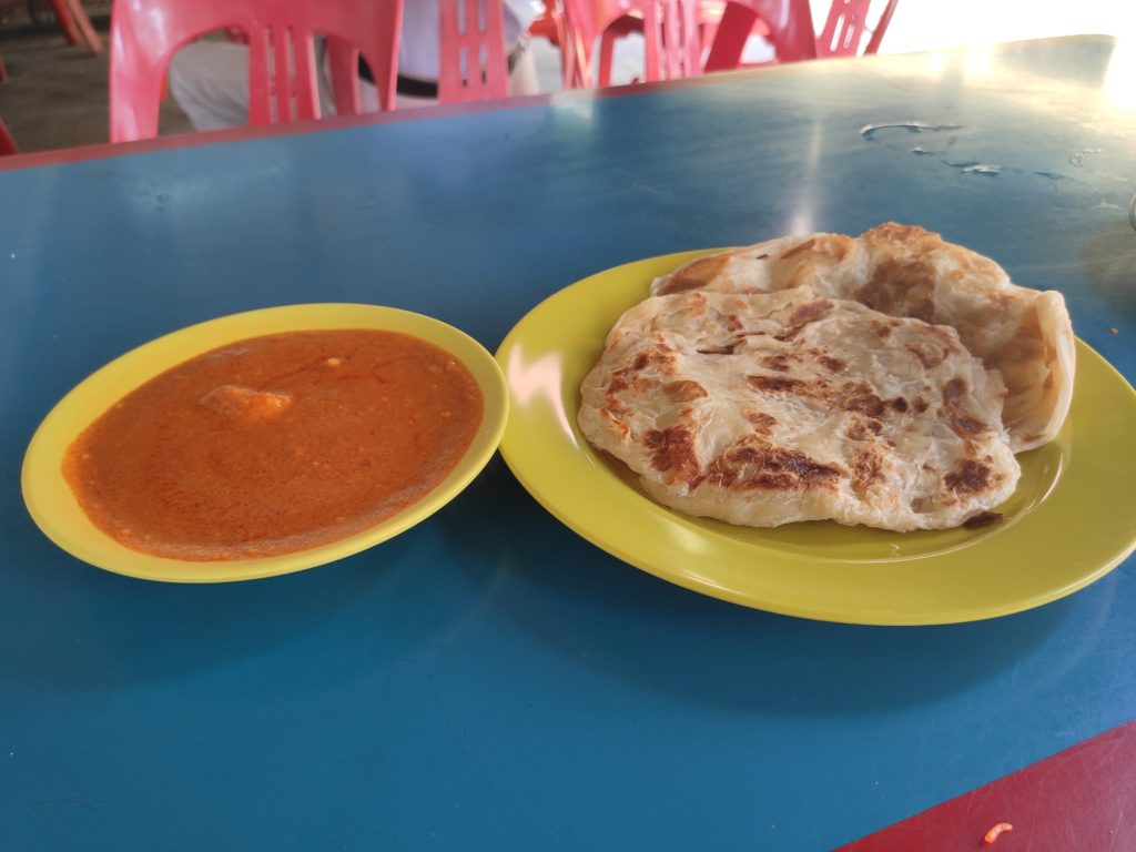 Tanglin Halt Roti Prata: Plain Prata with Curry