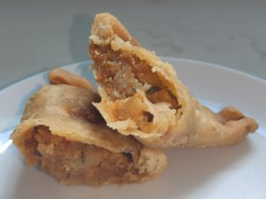 The Green Leaf :Potato Curry Puff Filling