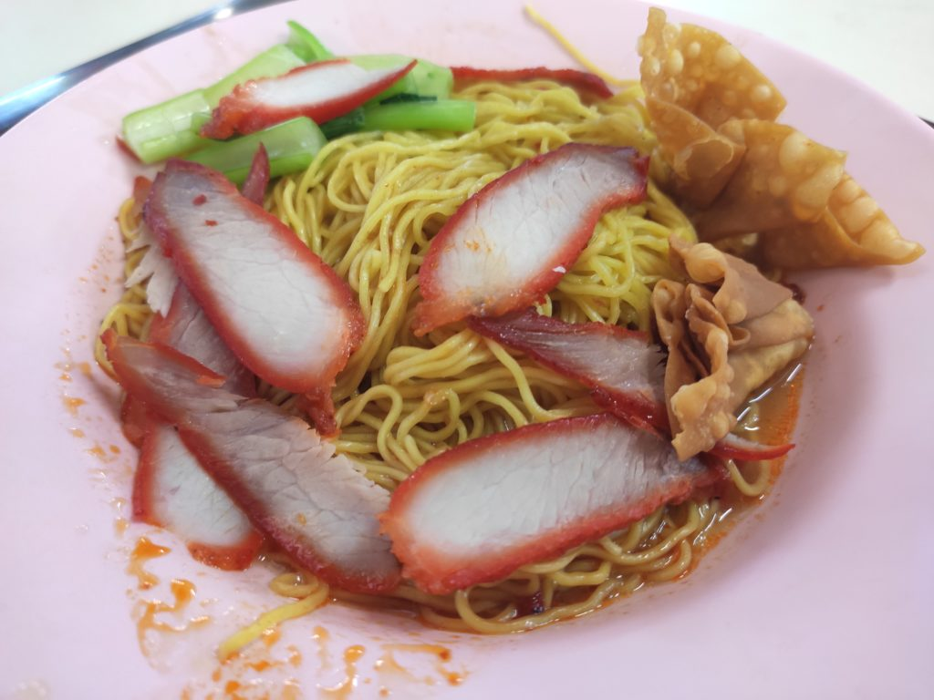 Tian Xiang Wanton Noodle: Char Siew Noodles with Fried Wanton
