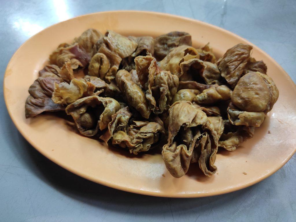Tiong Shian Porridge: Fried Pig Intestine